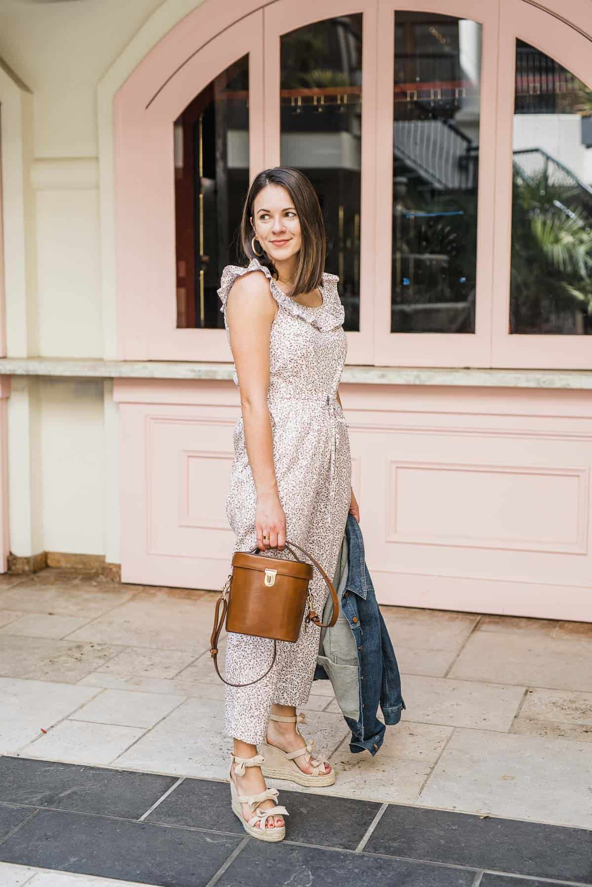 My Style Vita is wearing  the Gal Meets Glam Collection 'Rue' jumpsuit