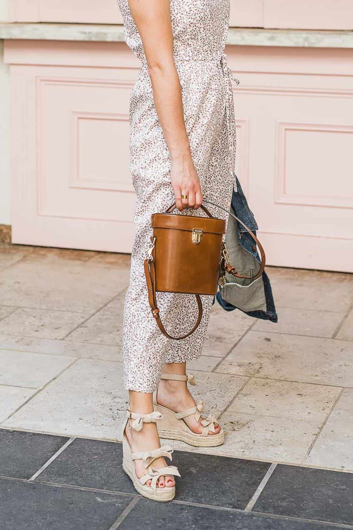 CASTANER WEDGES AND BRAHMIN BAG FEATURED