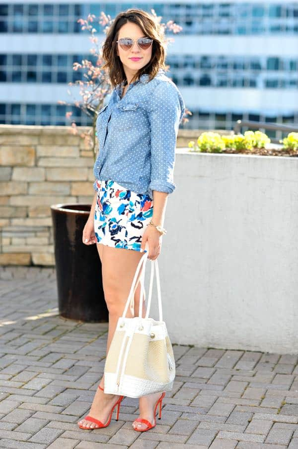 Denim & Floral Prints