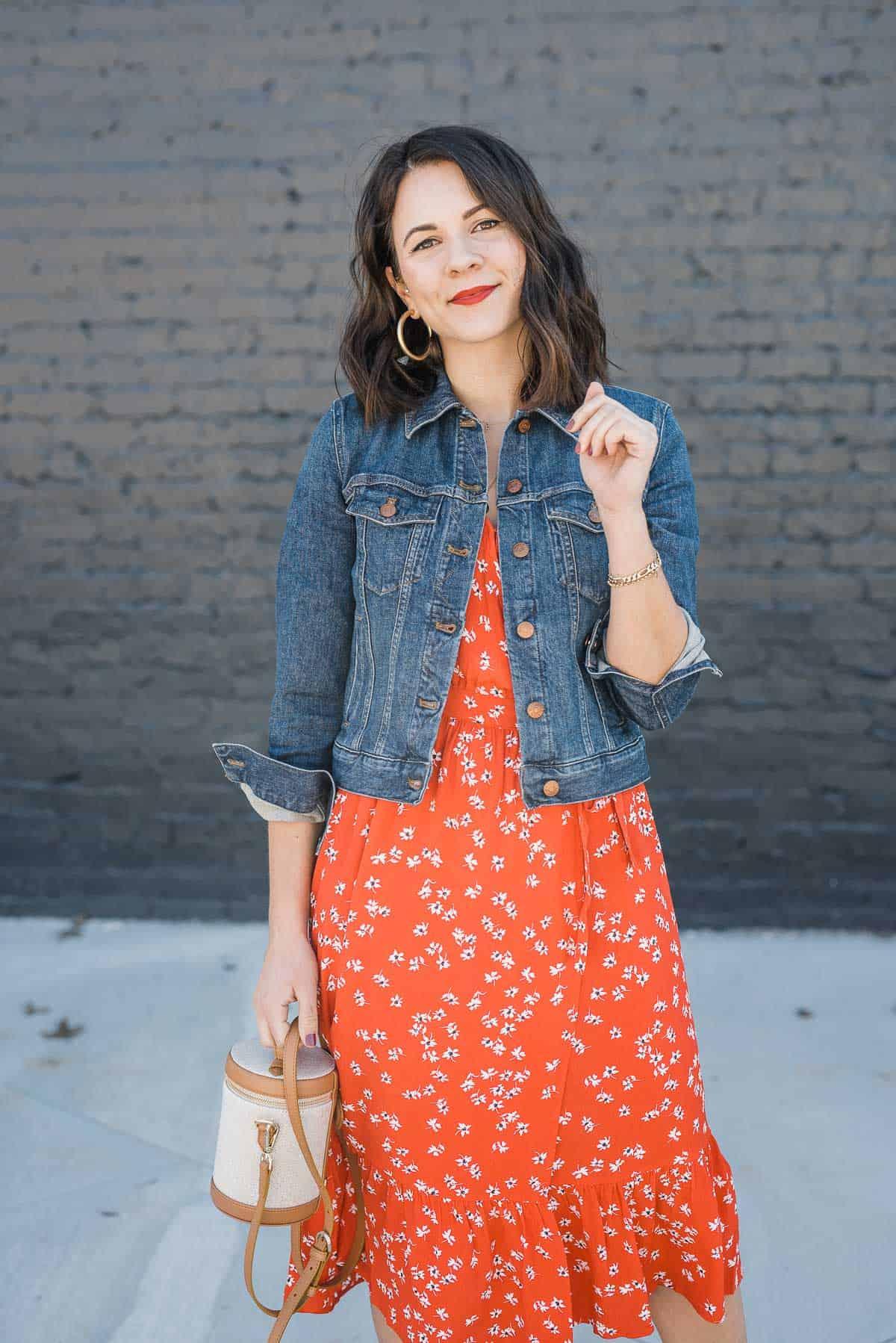 Joules red midi dress floral print