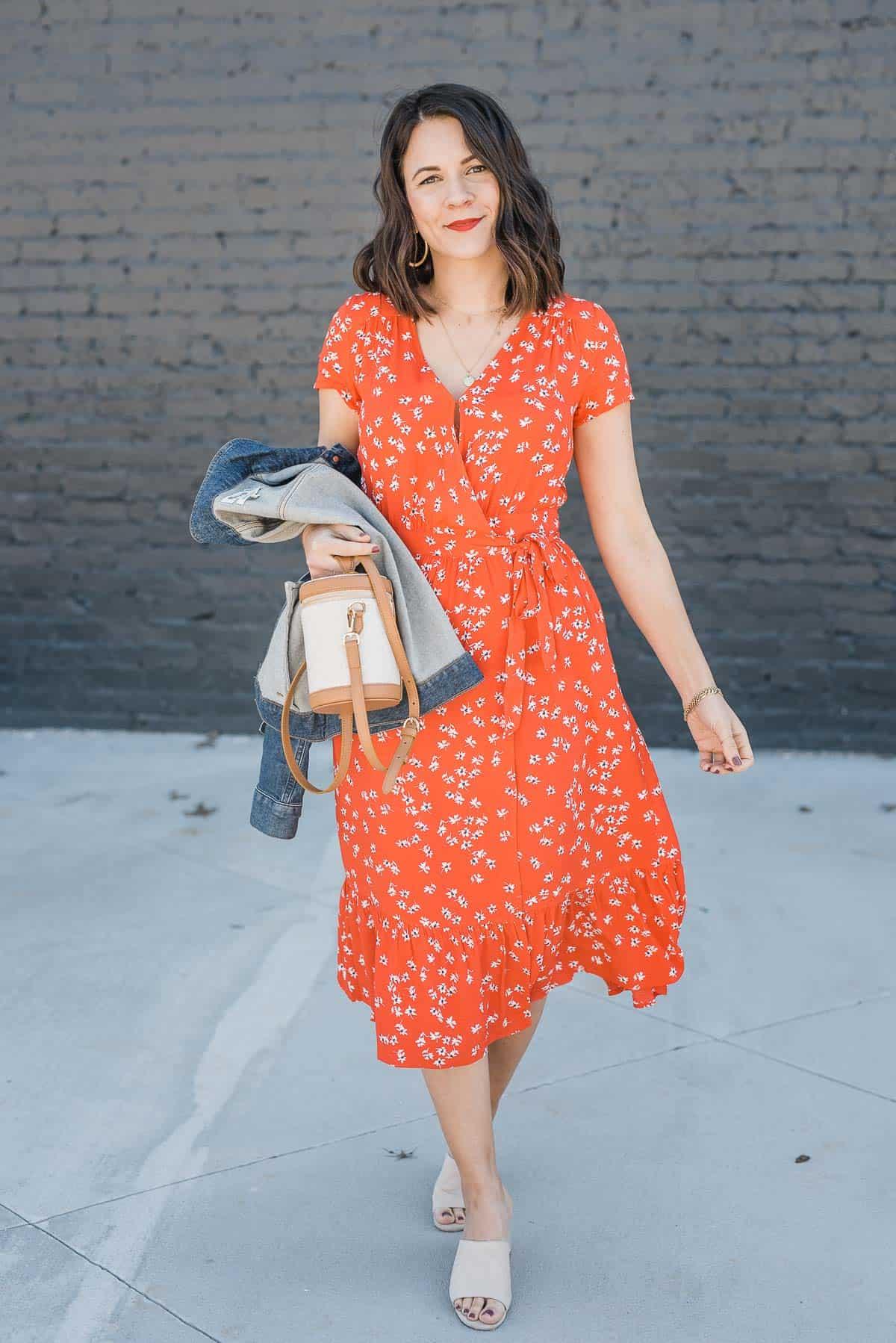red midi dress for summer