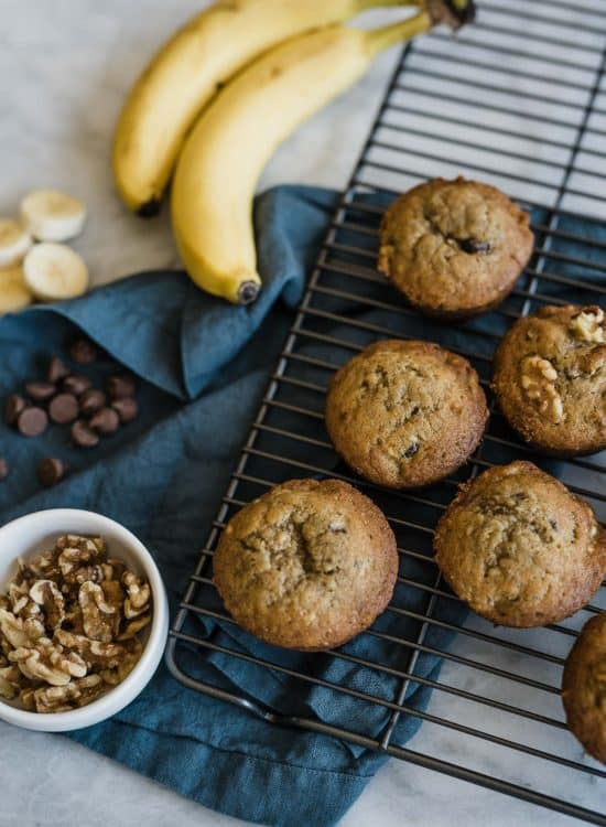 Banana Muffins With Walnuts And Chocolate Chips recipe