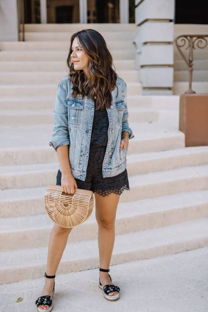 e1283910723 Check Out The Full Posts  Floral Dress   Oversized Denim Jacket • Jacket  With Khaki Pants • Jacket   Shorts • Yellow Dress • Striped Skirt   Tank •  Romper ...