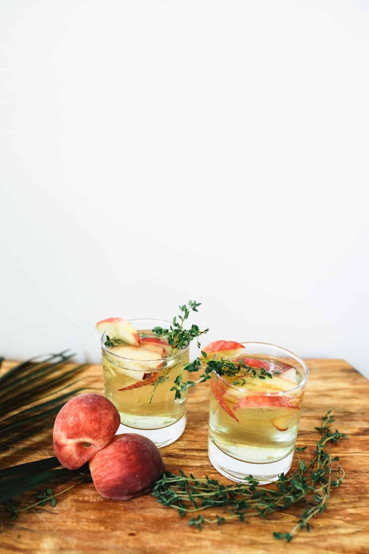 Peach Thyme Sangria Recipe