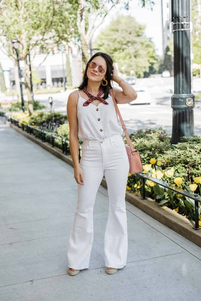 the white wide leg jeans you'll wear all spring  summer