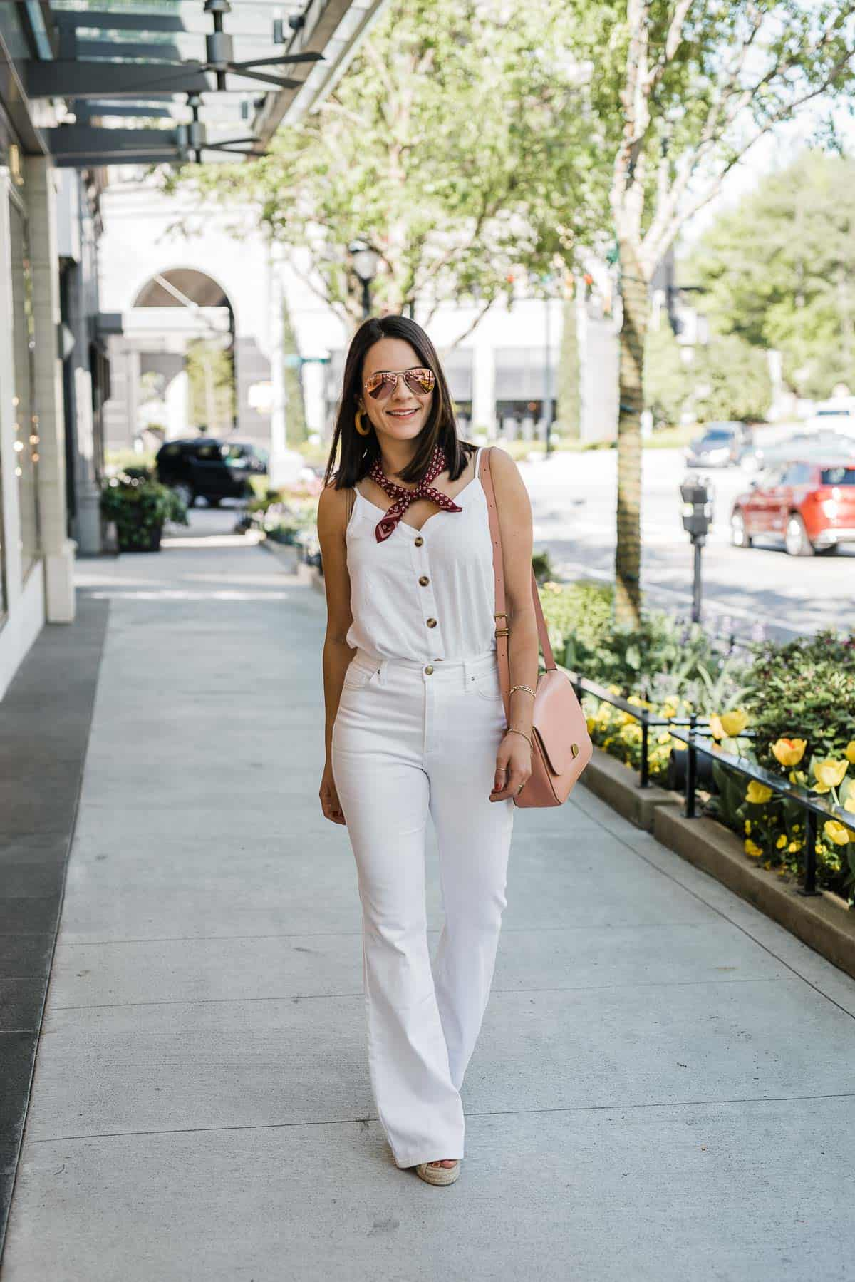 White Wide Leg Jeans Featured