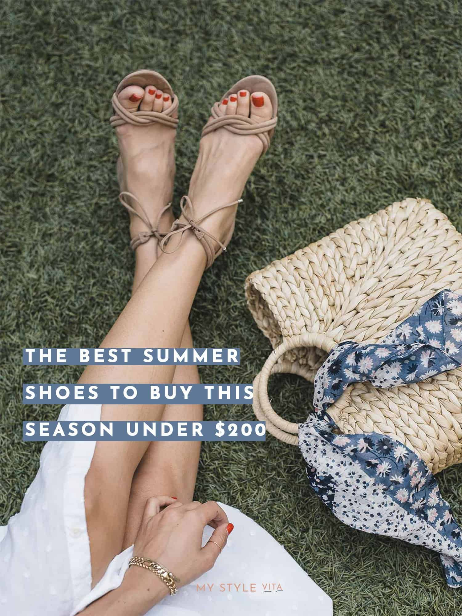 best summer sandals, straw bag