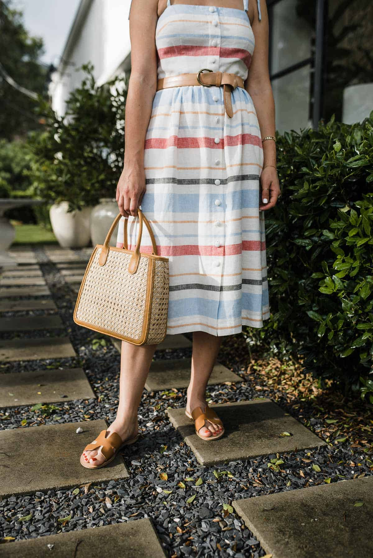 summer dresses from Gal Meets Glam Collection, Straw bag