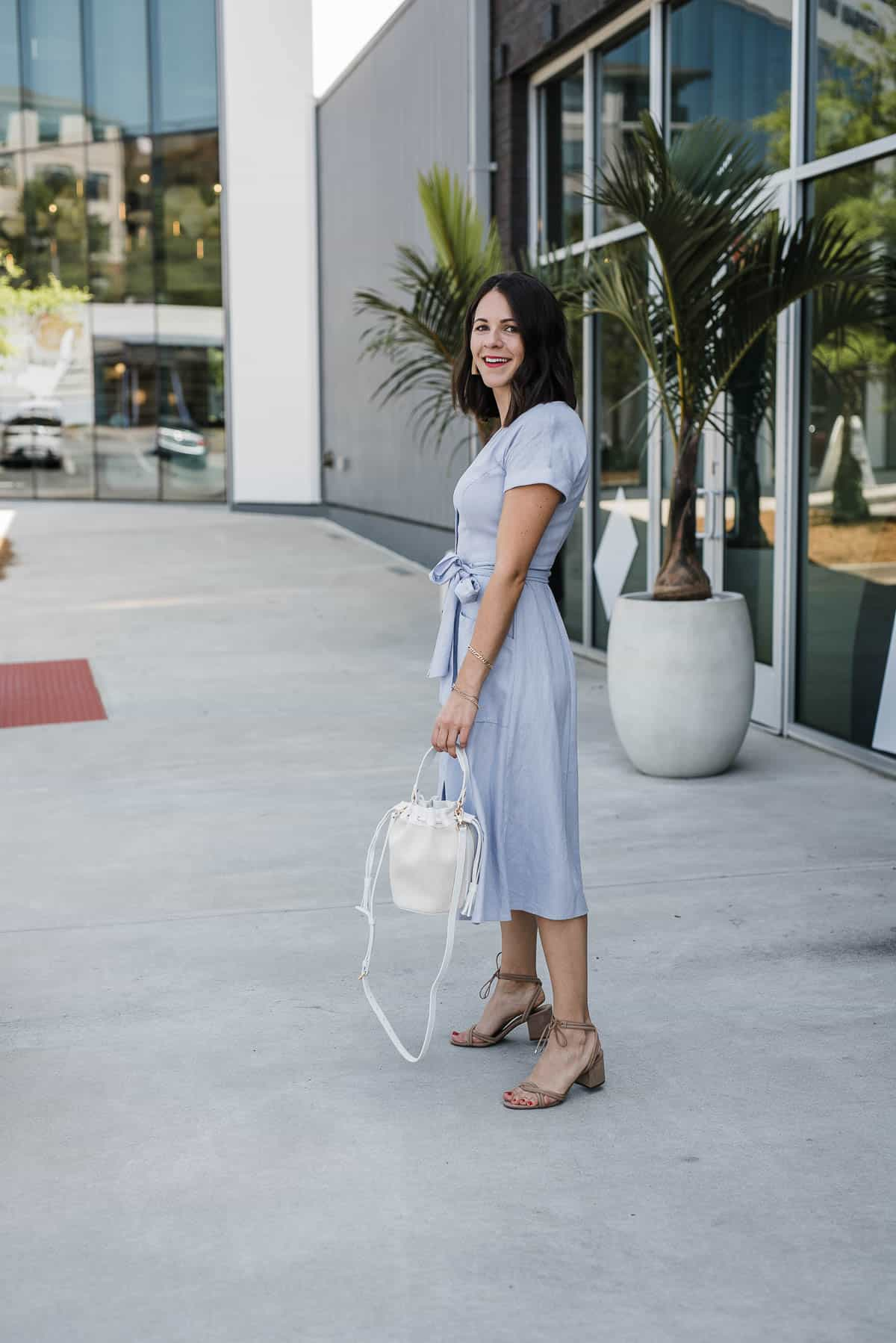 lilac shirt dress for summer