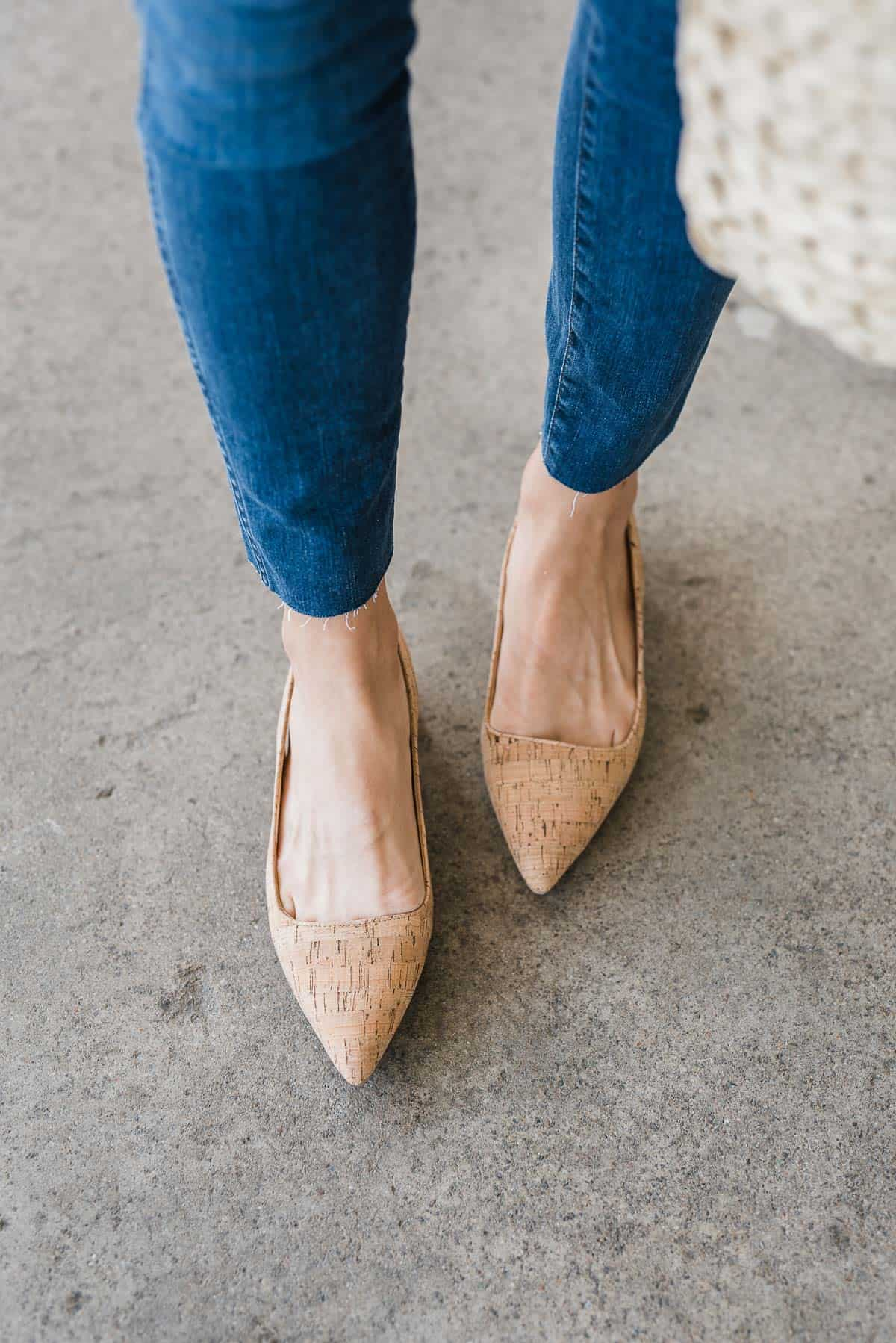 bill blass cork pumps