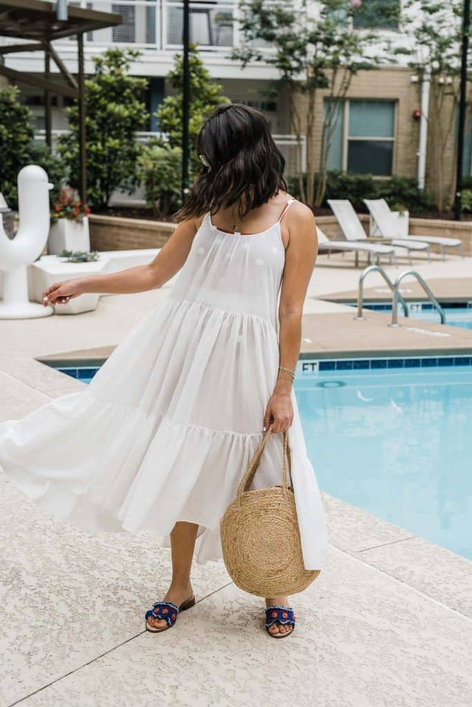 white beach dress featured