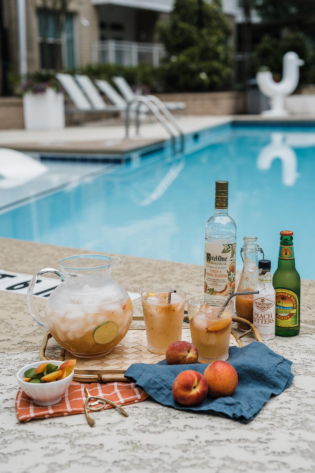 Summer cocktails by the pool