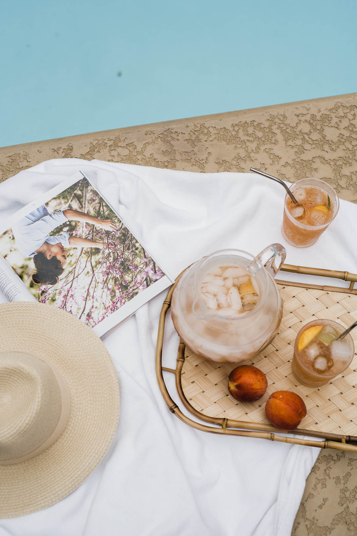 A summer cocktail recipe with peach