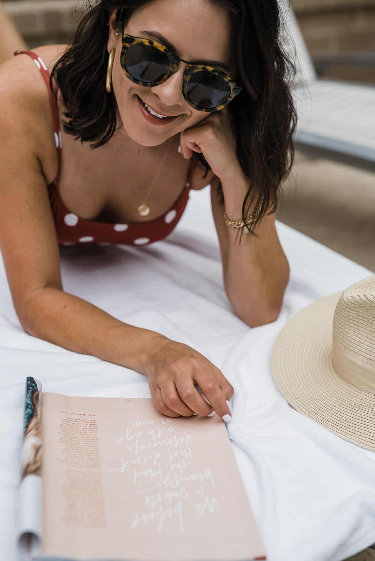 Jessica Camerata of An Indigo Day is sharing some fun things to do at the pool alone or with friends