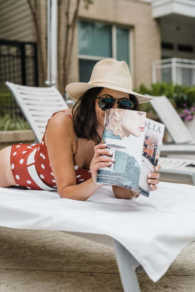 Read A Book Or Magazine by the pool