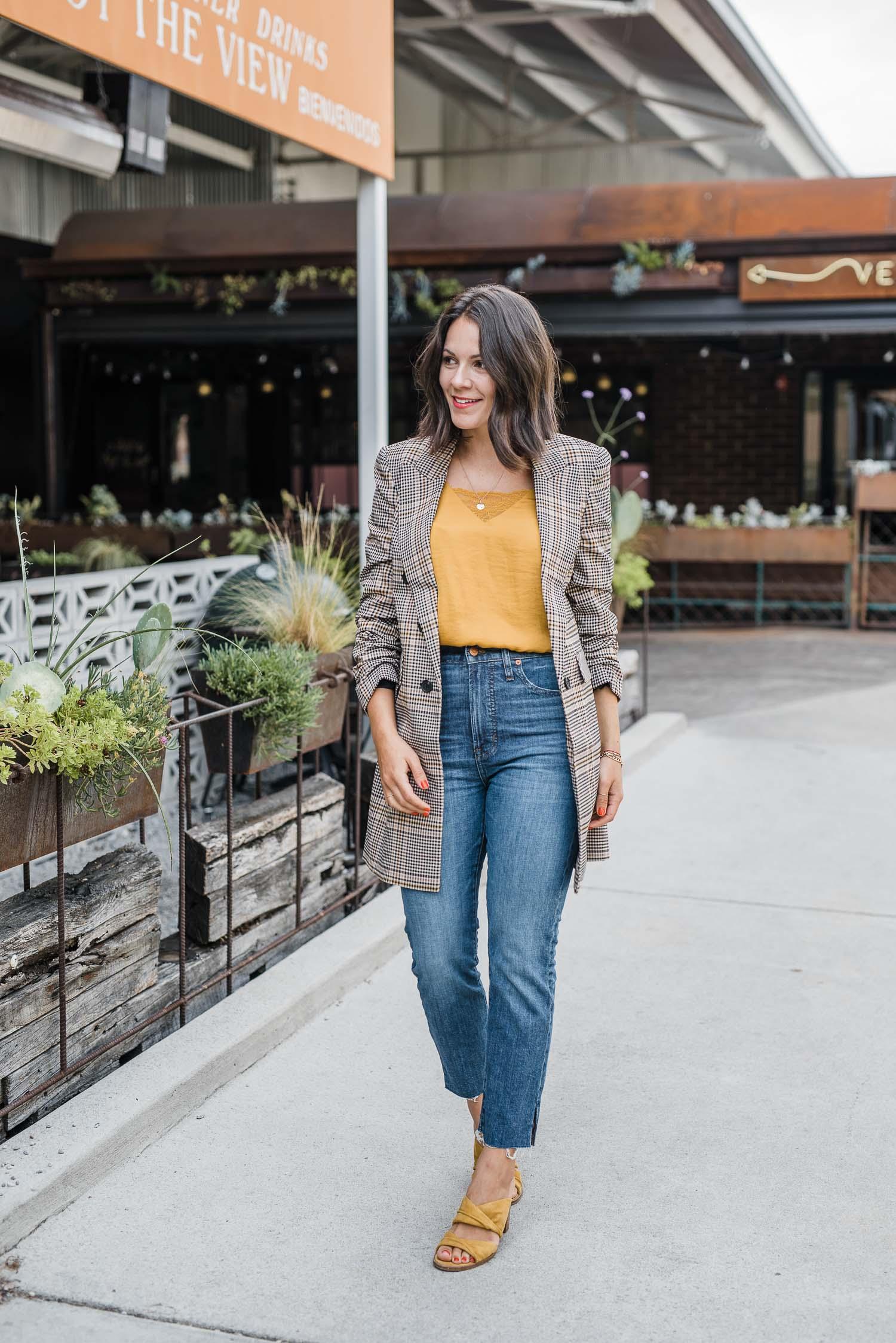 Jessica in a blazer
