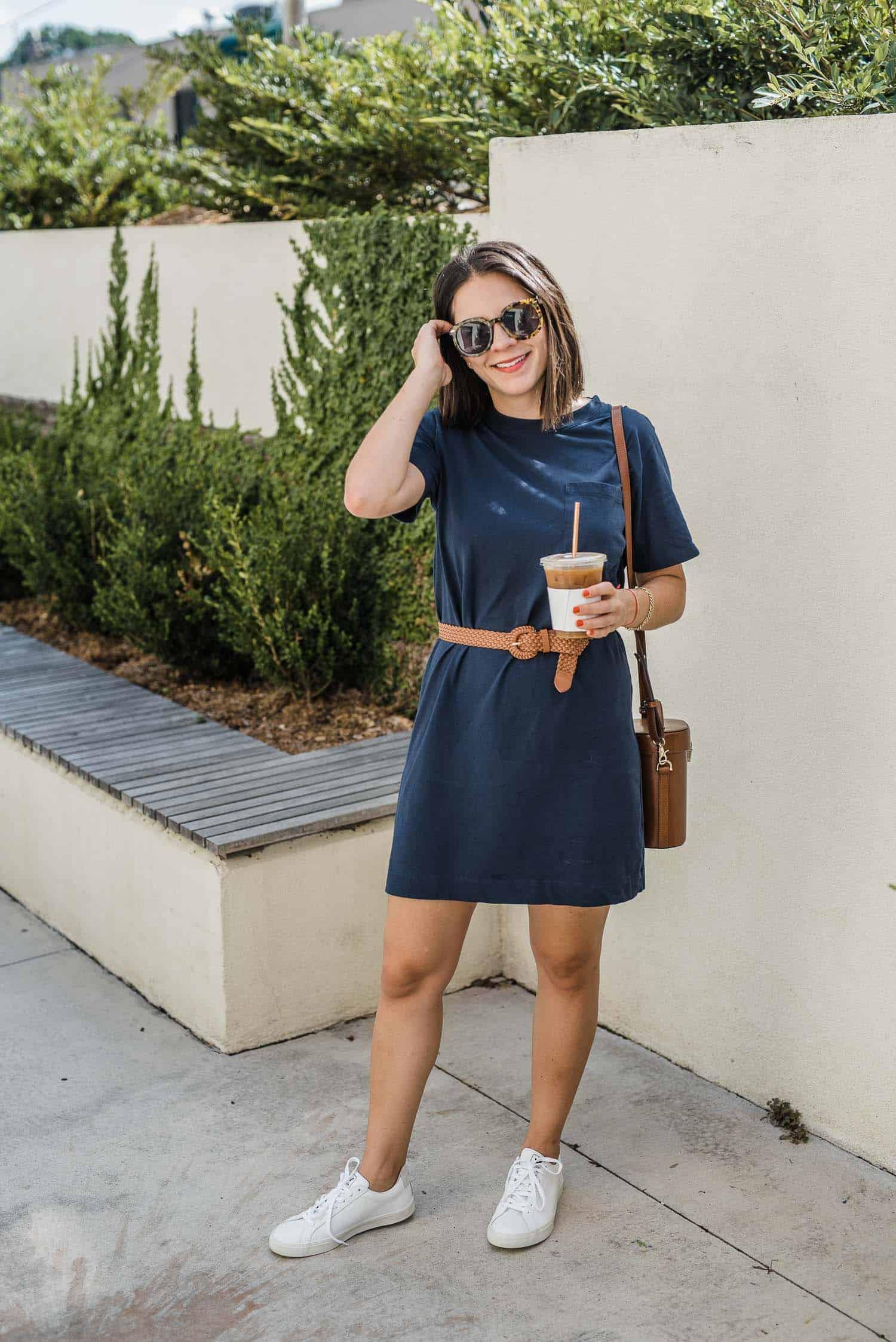 Jessica dresses to impress in a t-shirt dress
