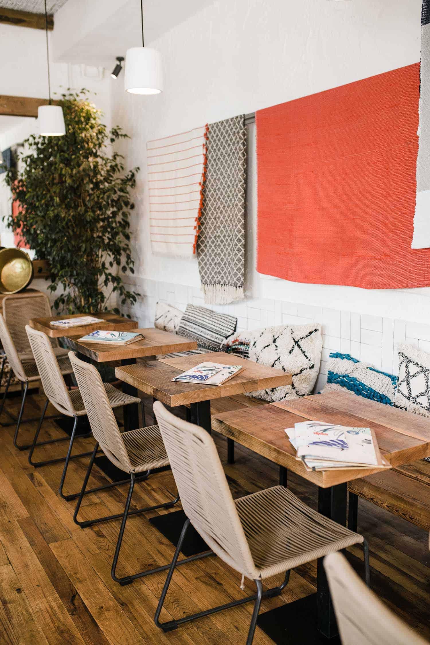 A restaurant in Jessica's travel plan
