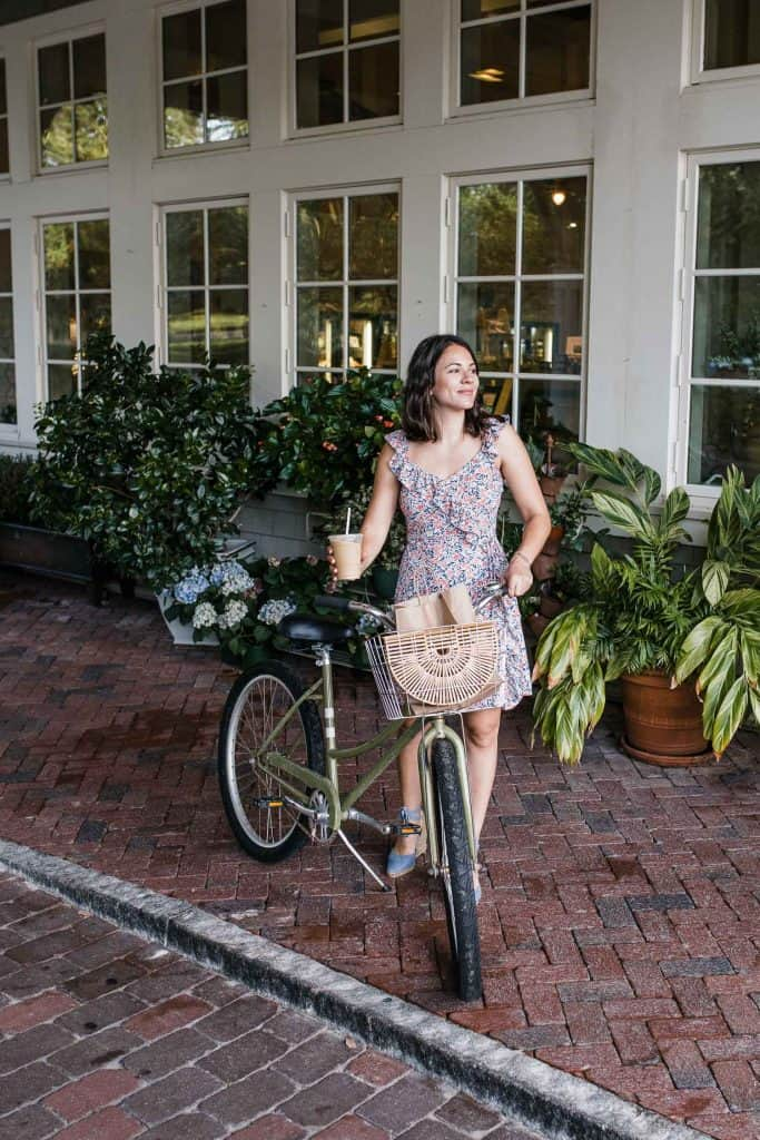 My Style Vita outfit details: 1 State Floral Mini Dress, Castaner Espadrilles, Cult Gaia Bag, Madewell Gold Hoop Earrings