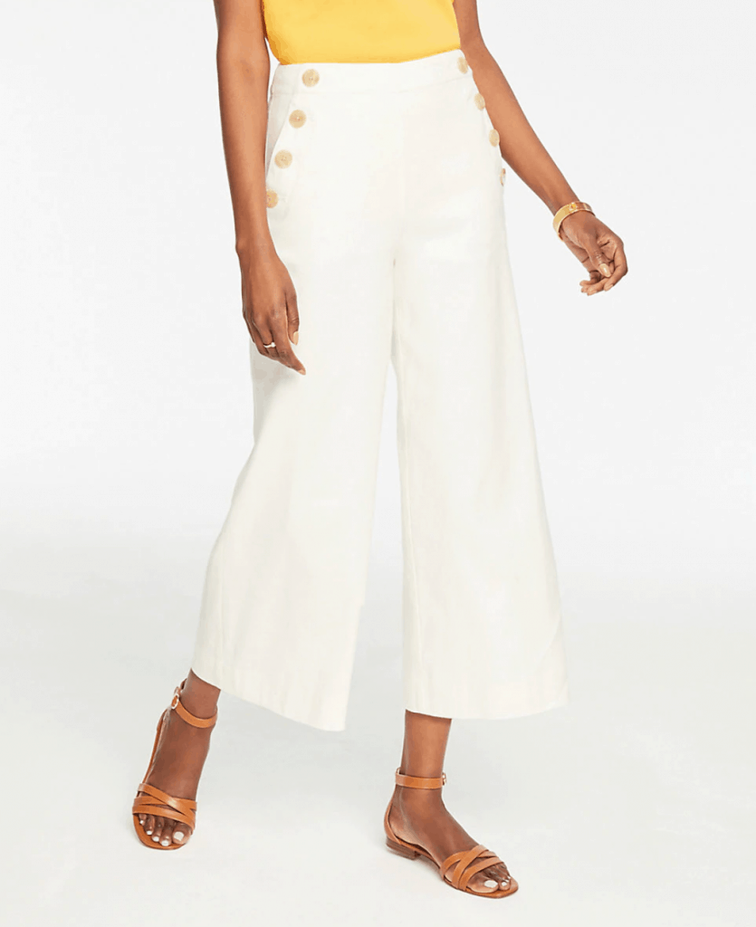 Easy Crop Button Pant