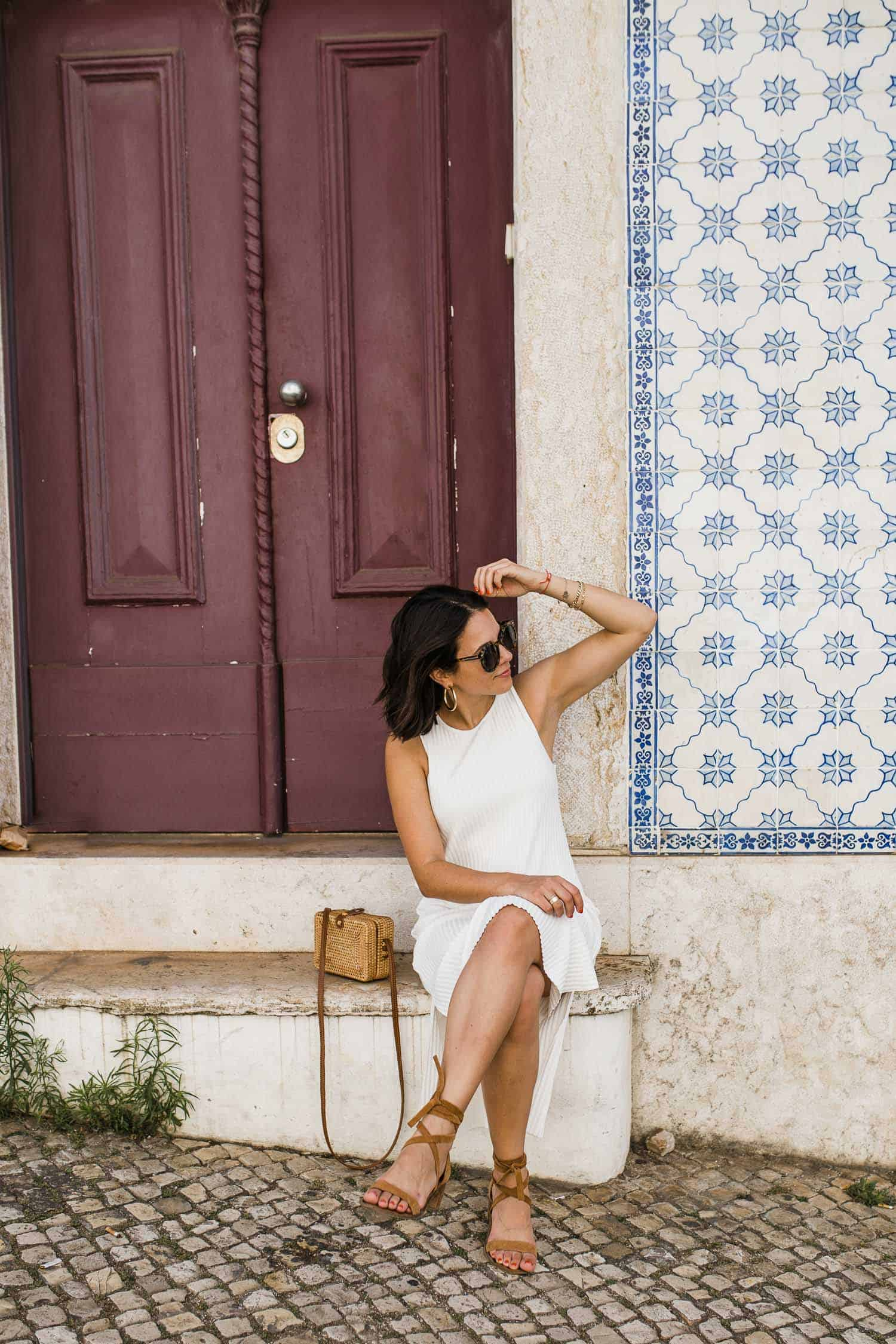 Lisbon is beautiful, a girl in a white dress