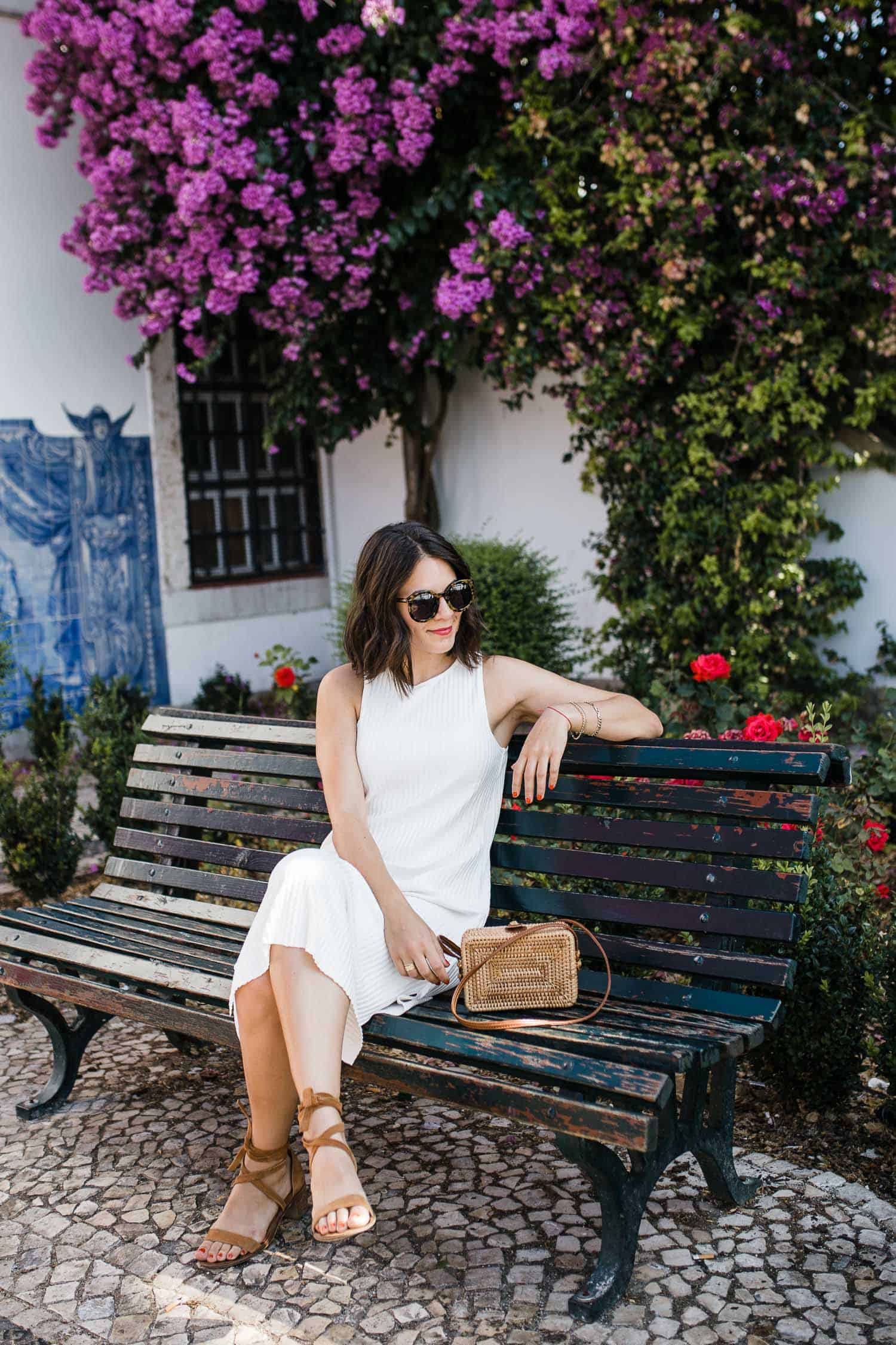 Jessica at an Instagrammable Spot In Lisbon