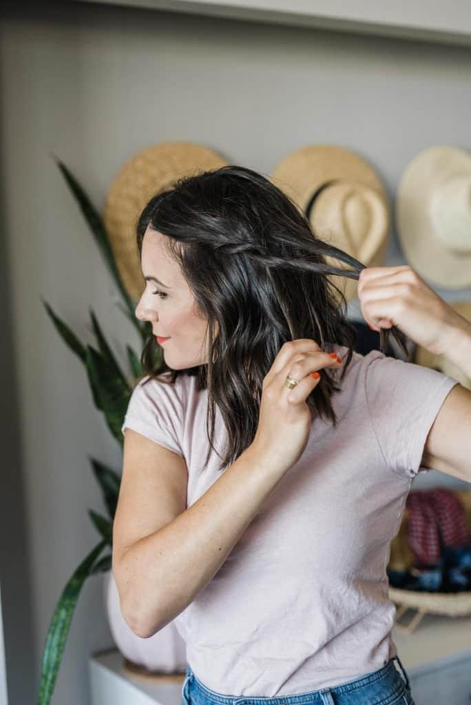 Jessica demonstrates a braid