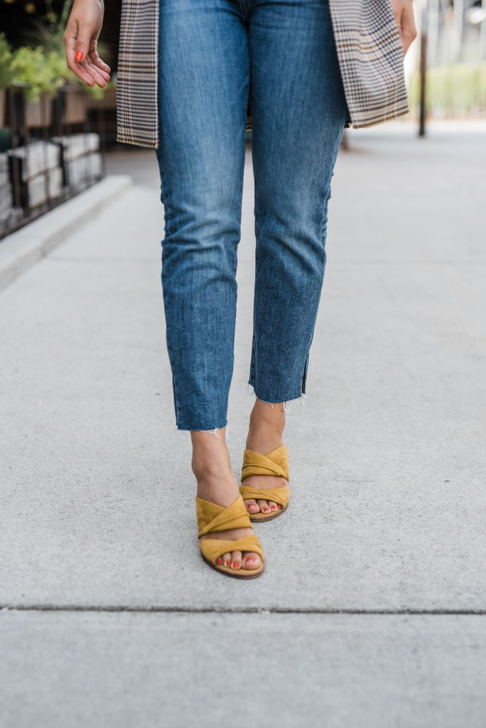 Mustard heels for the fall season