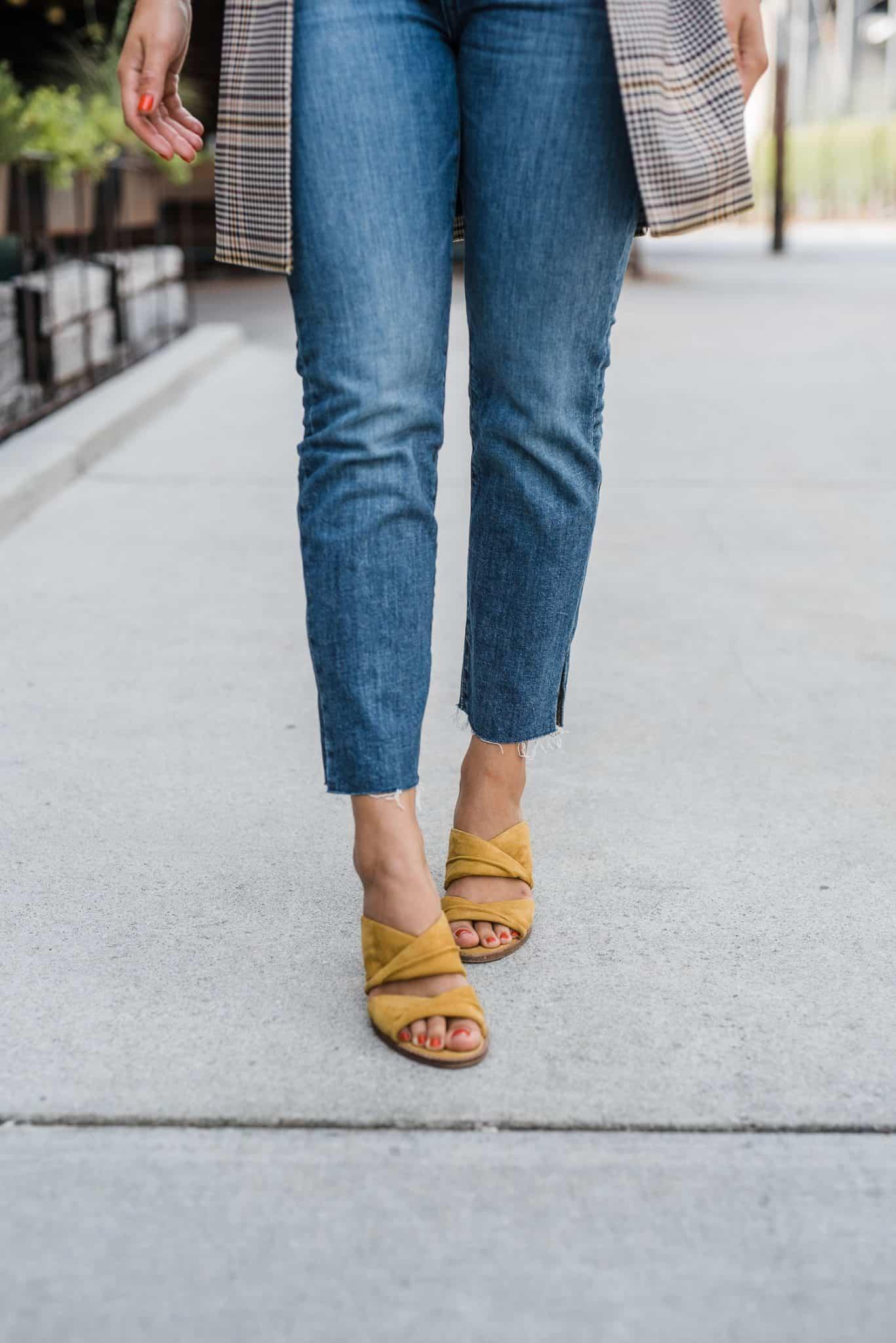 Mustard heels for the fall season
