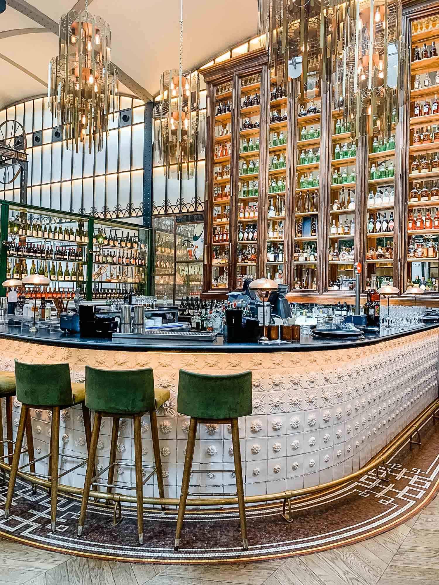 Inside a Spanish bar