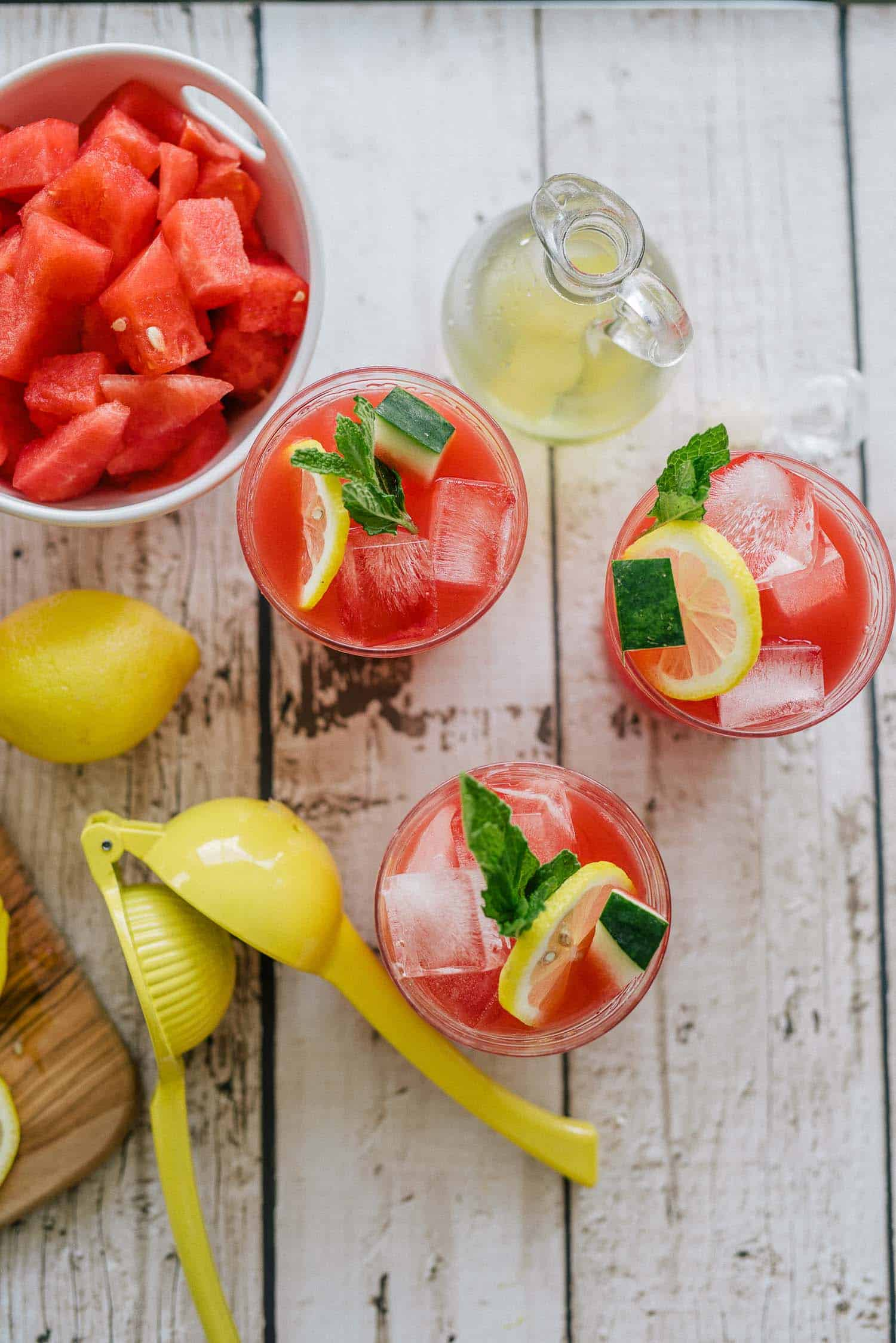 What To Serve Your Mint Watermelon Lemonade In