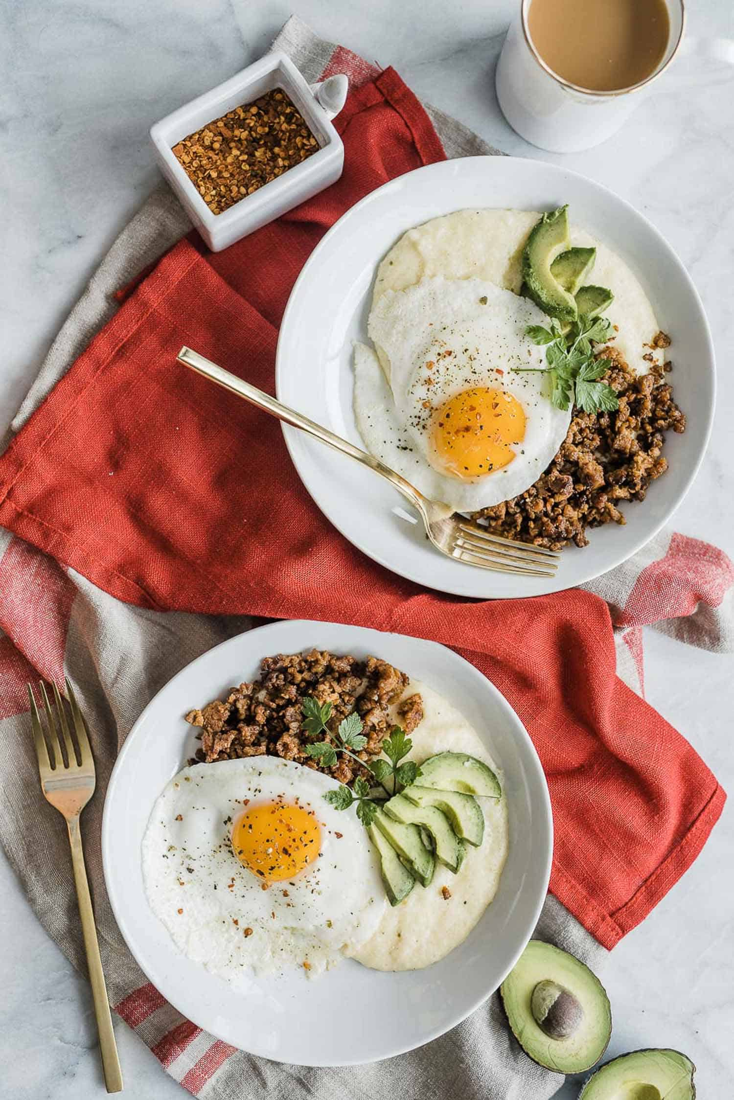 Chorizo And Grits Breakfast Bowl