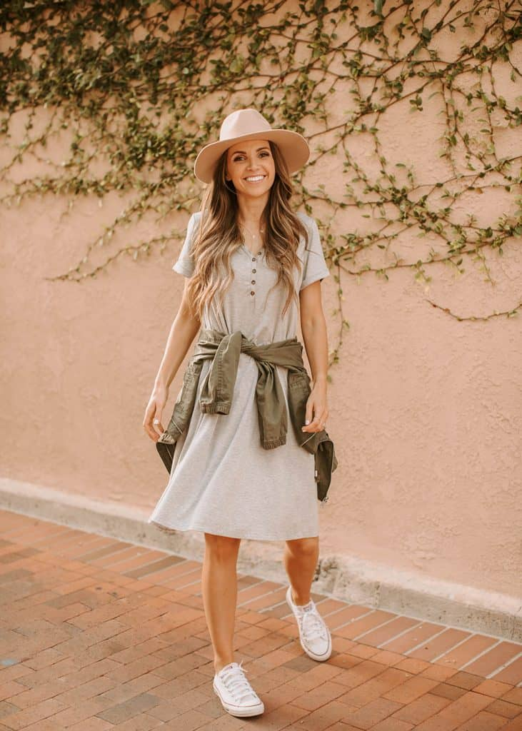 a t-shirt dress of your labor day outfits dreams