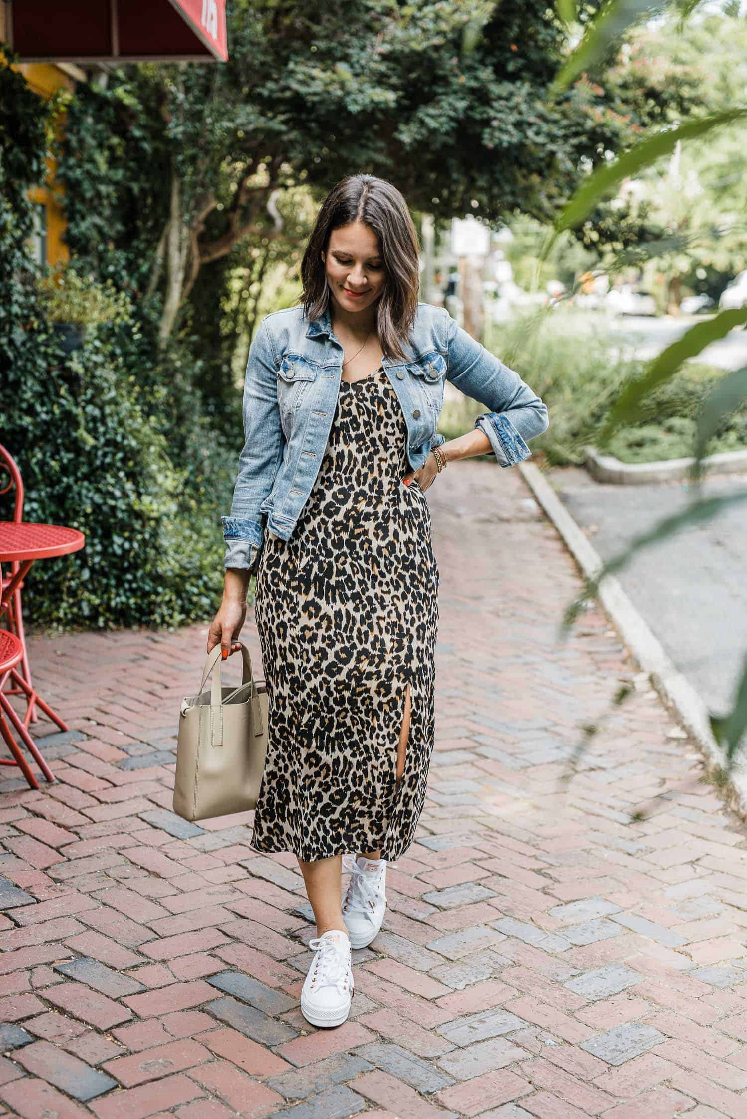 How to style a leopard midi dress