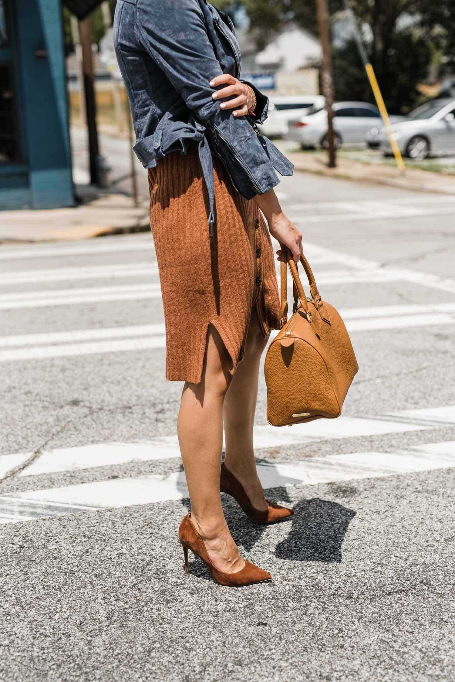 a madewell dress and bag are must haves at the insider event