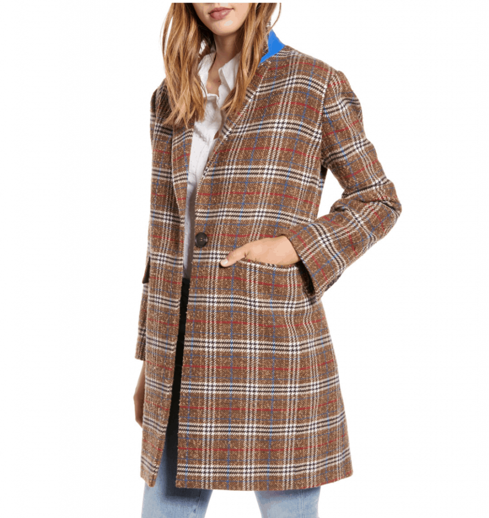 plaid fal coat
