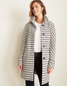 plaid fall coat