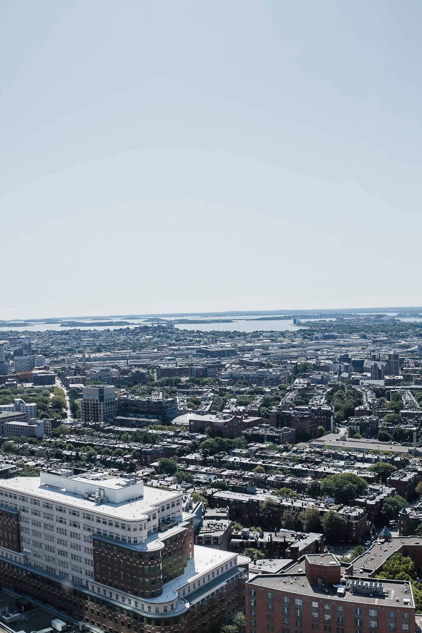 48 hours in boston is best captured in an airel view of boston  as a seen here