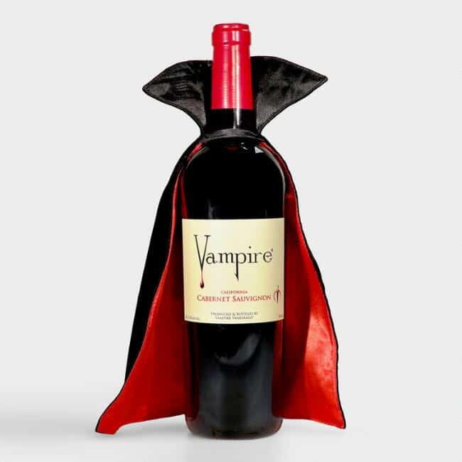 vampire-themed wine bottle