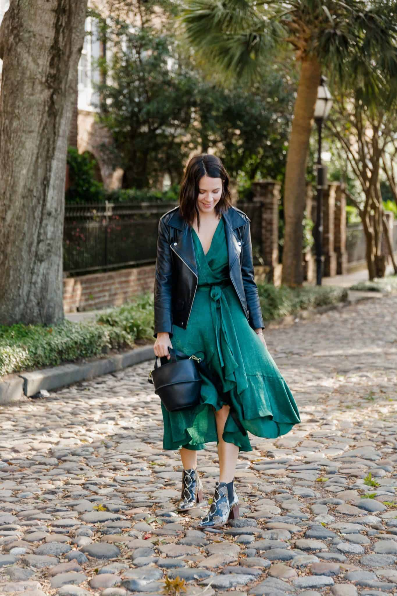 versatile fall wrap dress