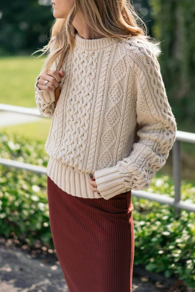 cable knit Sweater Looks For Fall