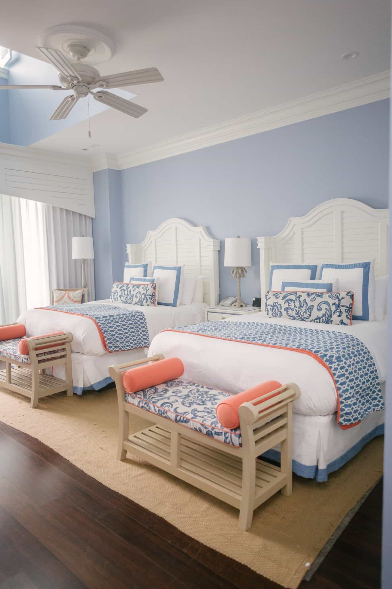 Beach Harbor Hotel room and beds