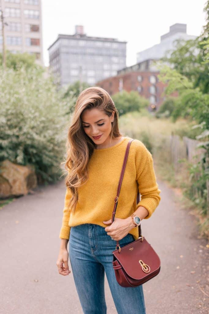 crew neck Sweater Looks For Fall
