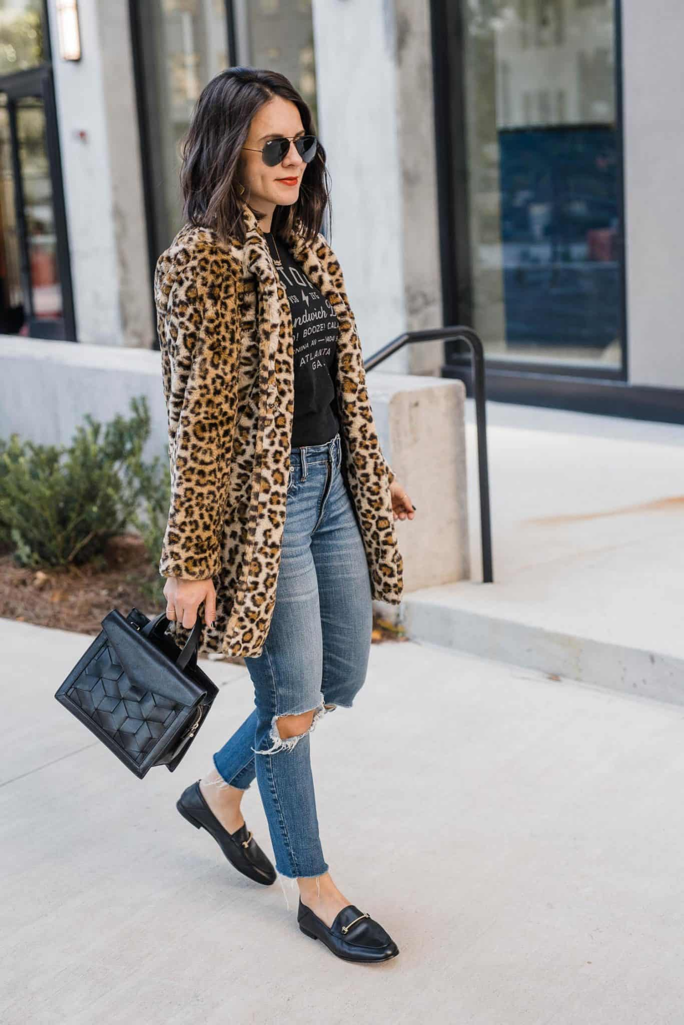how to style faux fur coats