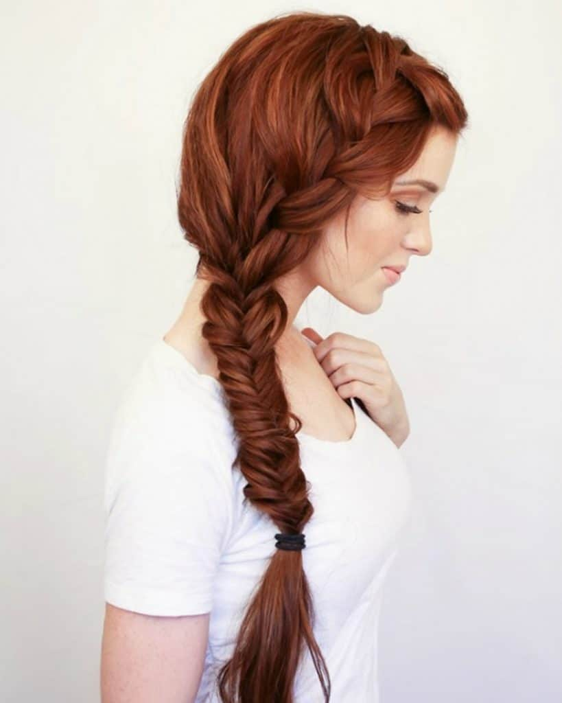 boho side braid - Hairstyles Without Heat