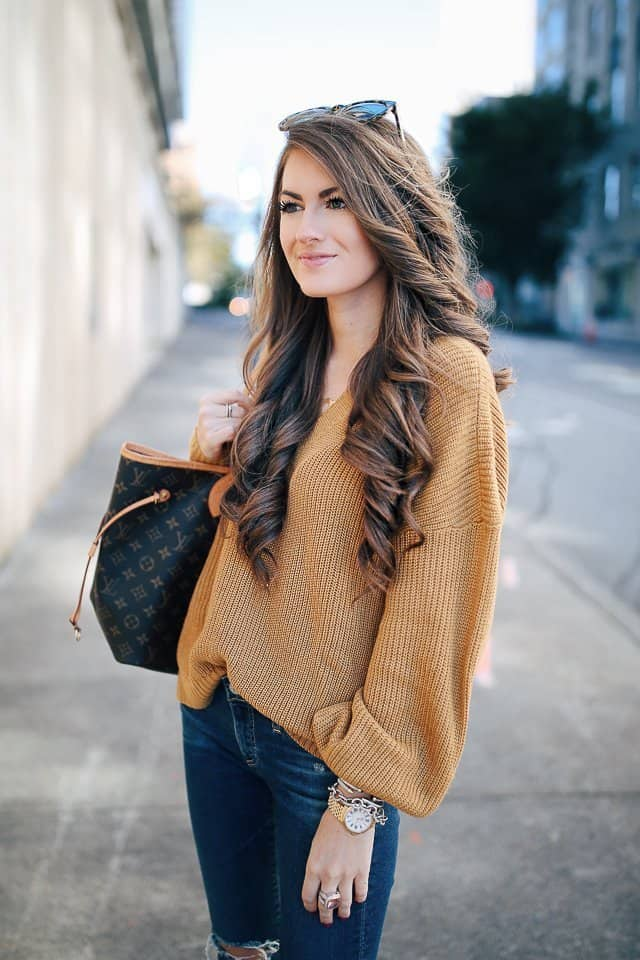 balloon sleeve Sweater Looks For Fall