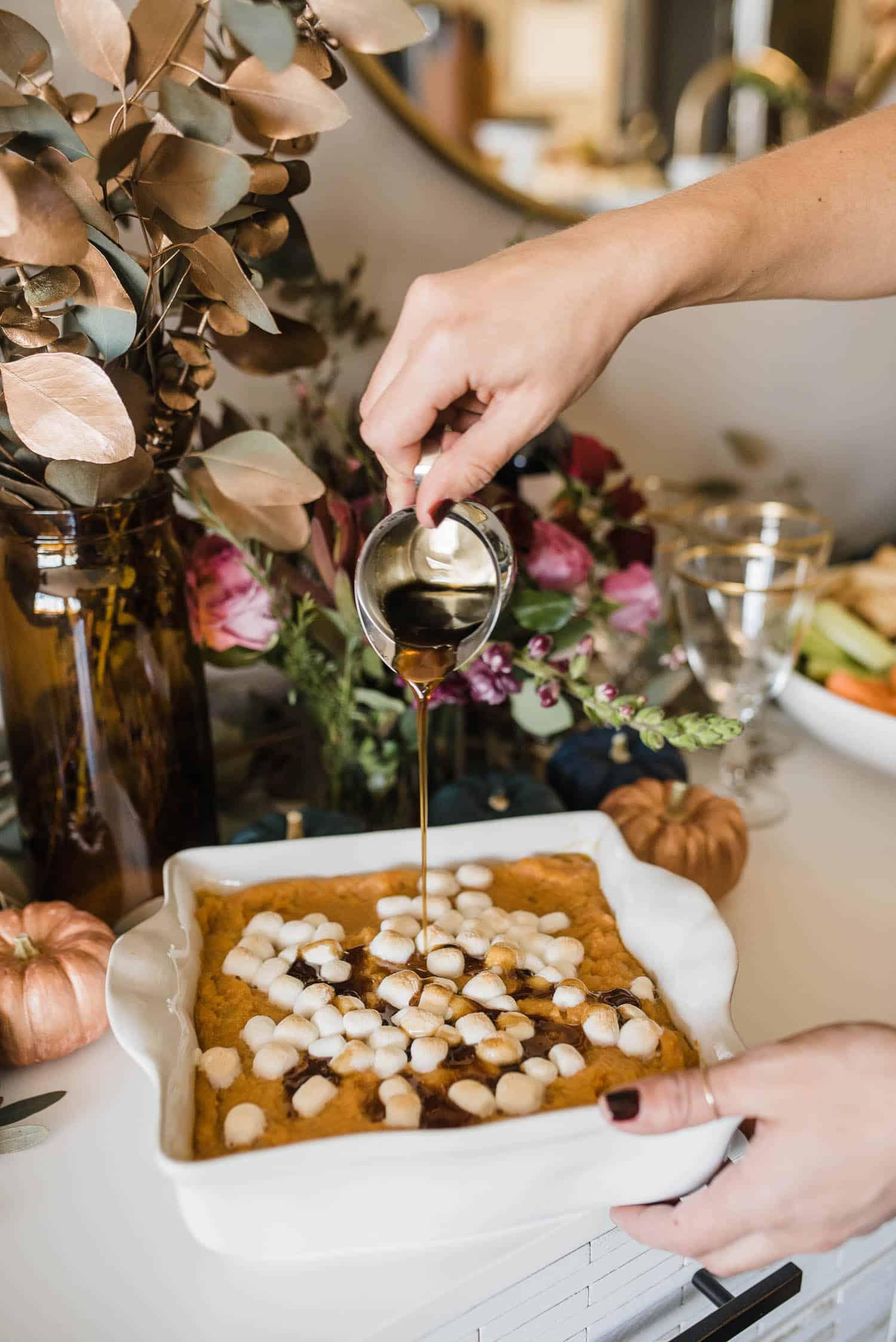 Sweet Potato Pie With Maple Bourbon Glaze