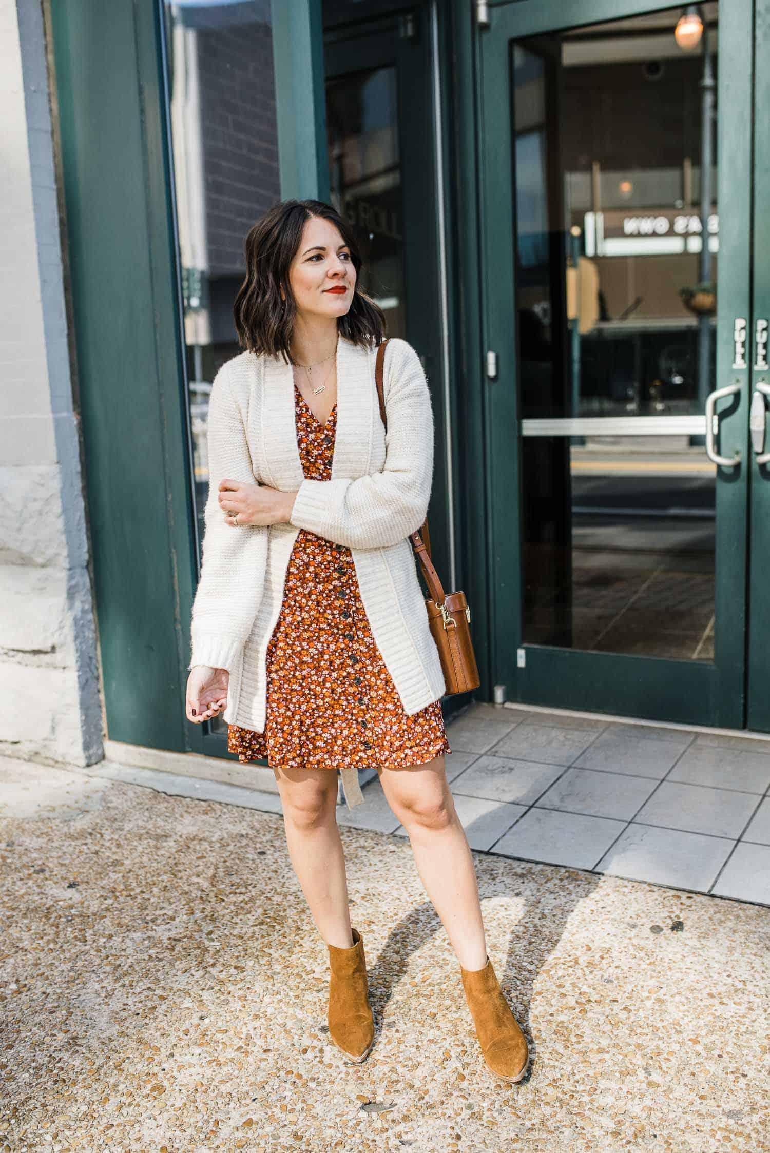 mini dress fall outfit