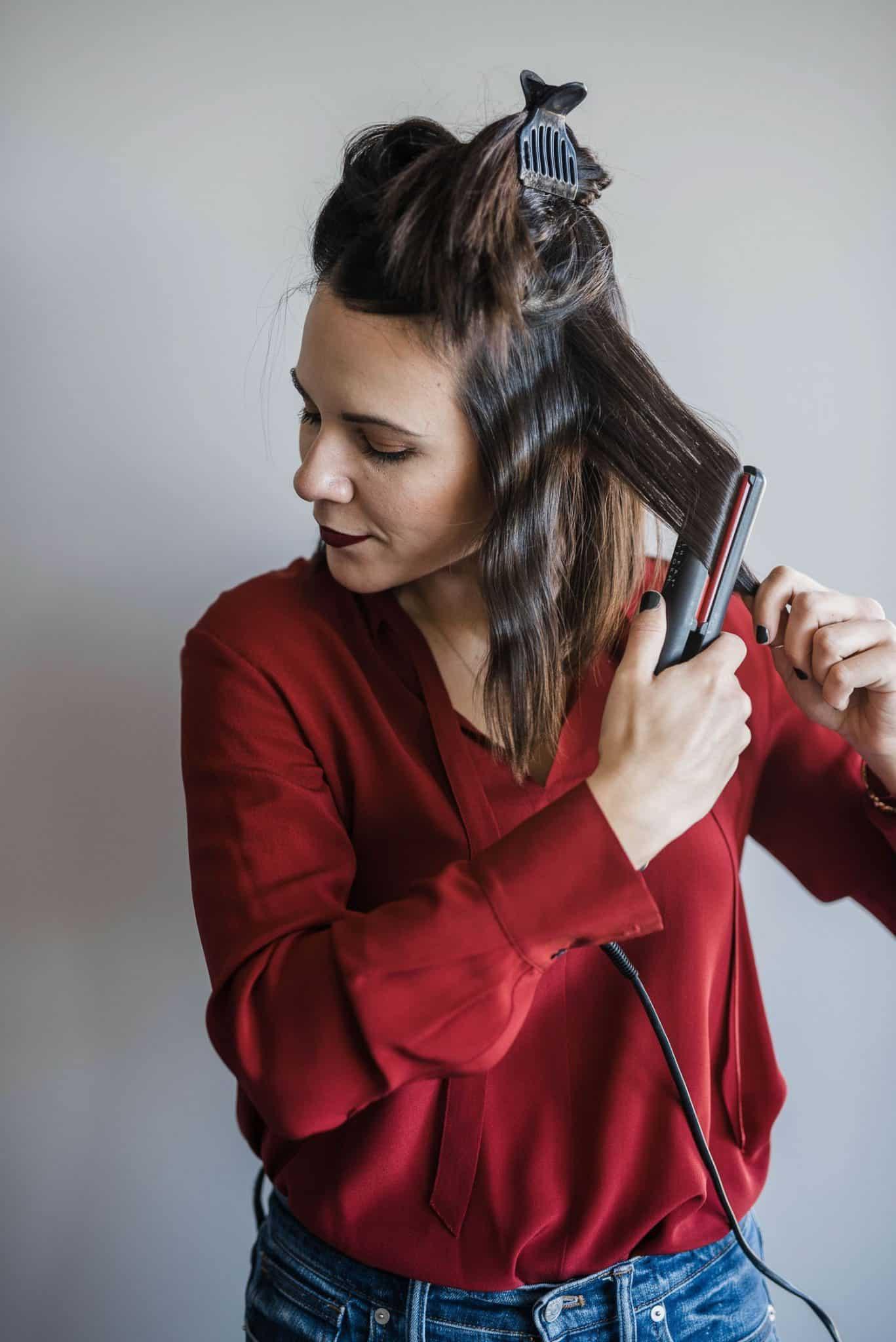 Flat Iron hair tutorial