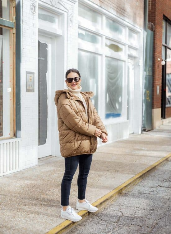 how to style a puffy coat